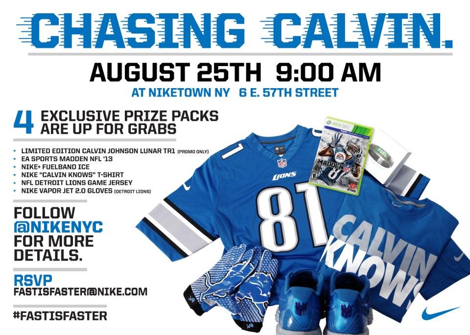 Niketown NY 'Chasing Calvin' Contest