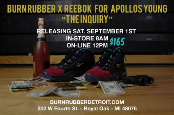 Release Reminder: Burn Rubber x Reebok Question for Apollos Young 'The Inquiry'