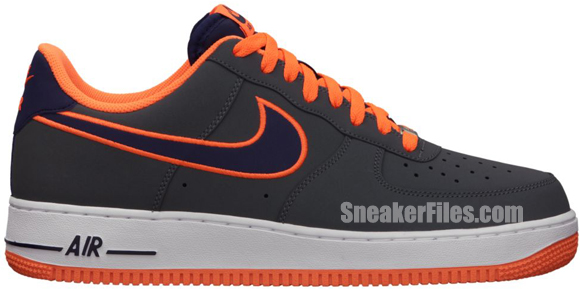 Release Reminder: Nike Air Force 1 Low Embroidery 'Dark Grey/Imperial Purple-Total Orange'