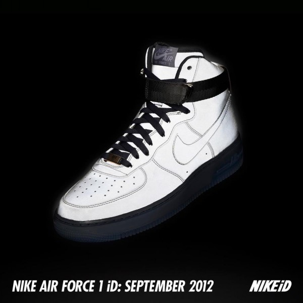 Release Reminder: Nike Air Force 1 iD Reflective Synthetic for September 2012
