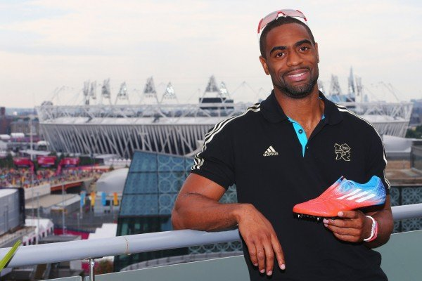 Tyson Gay Wears Personalized Patriotic adiZero Prime SP During 100m Races in London