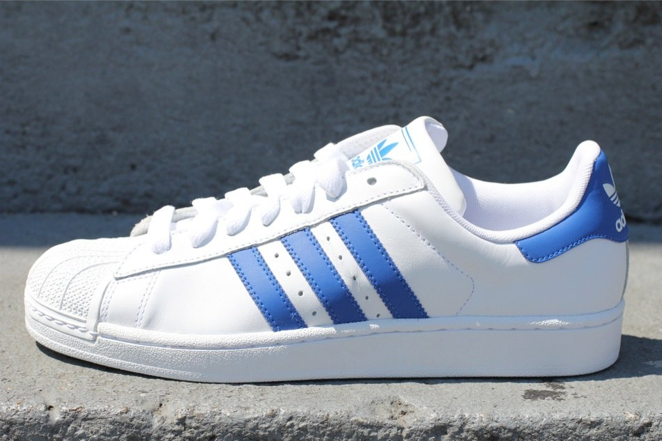adidas originals superstar ii 39 white royal 39 sneakerfiles. Black Bedroom Furniture Sets. Home Design Ideas