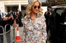 Celebrity Sneaker Watch: Rita Ora Wearing Air Jordan III 'White/Cement'