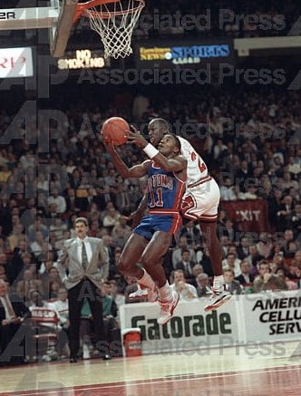 Michael Jordan Defense on Isiah Thomas 1989 Fire Red