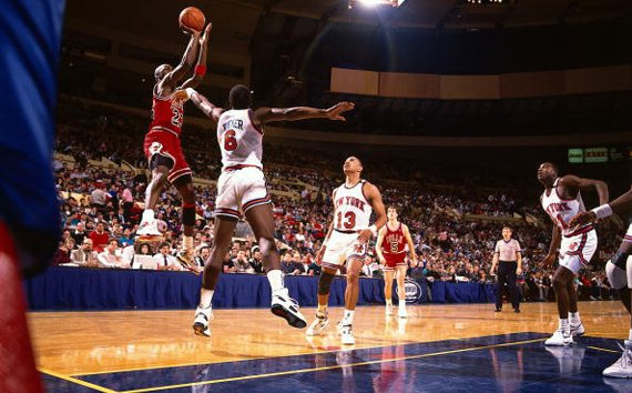 Michael Jordan Jumpshot Over New York Knicks 1989