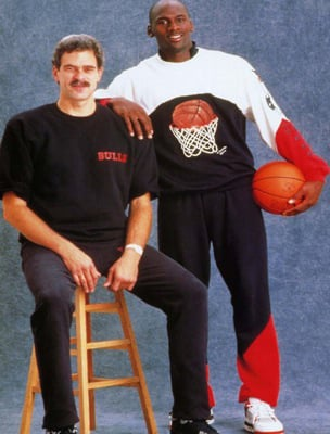 Michael Jordan with Phil Jackson in 1989