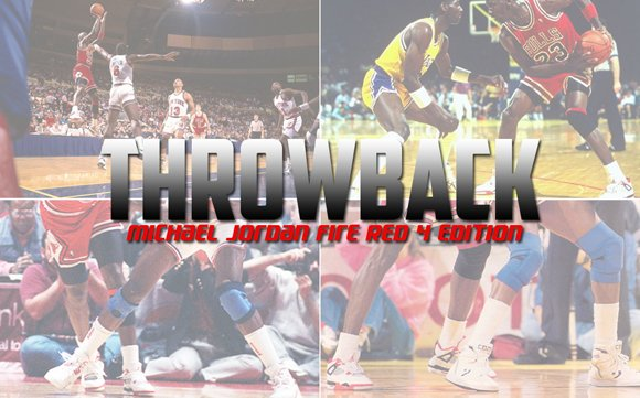 Throwback: Michael Jordan Wearing the Original Air Jordan 4 Fire Red