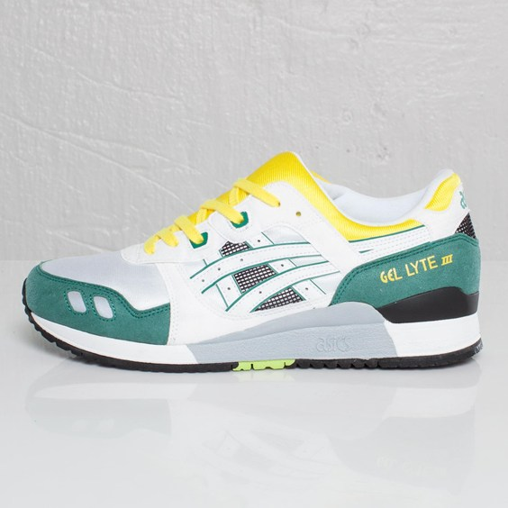 ASICS Gel Lyte III 'White/Yellow/Green' OG Reissue