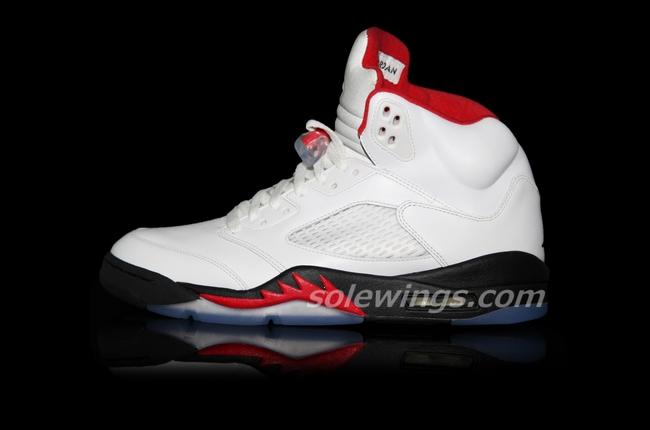 Air Jordan V (5) 'White/Black-Red' 2013 Retro - New Images