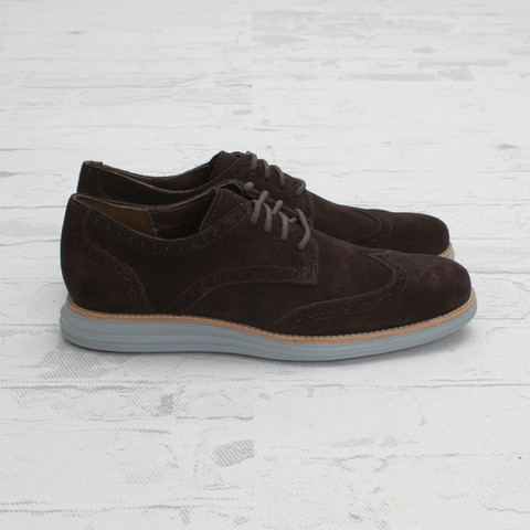 Cole Haan LunarGrand Wingtip T Moro Suede at Concepts