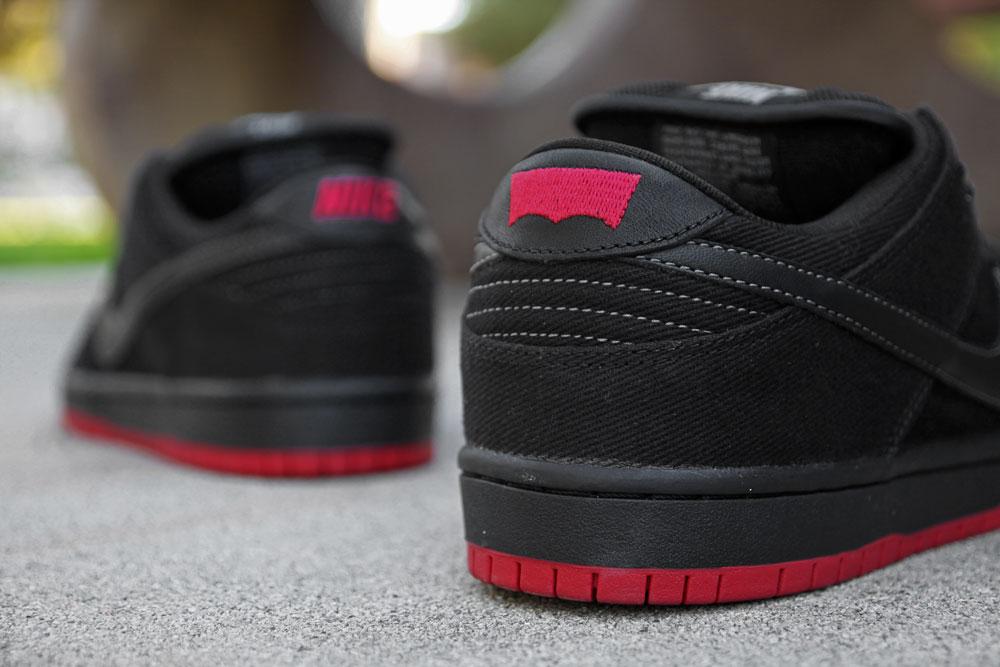 Levi's x Nike SB Dunk Low 'Black' at Primitive