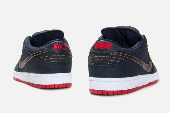 Levi's x Nike SB Dunk Low 'Dark Obsidian' at Atlas