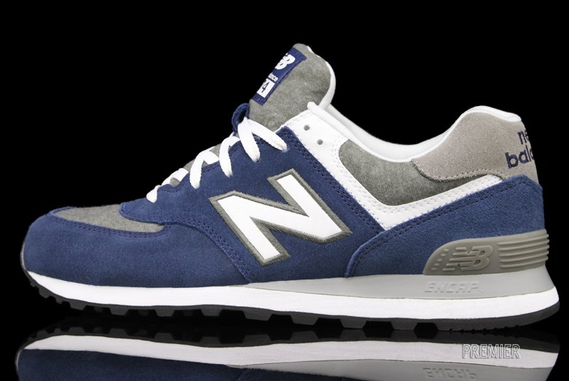 New Balance 574 'Navy/Heather Grey-White'