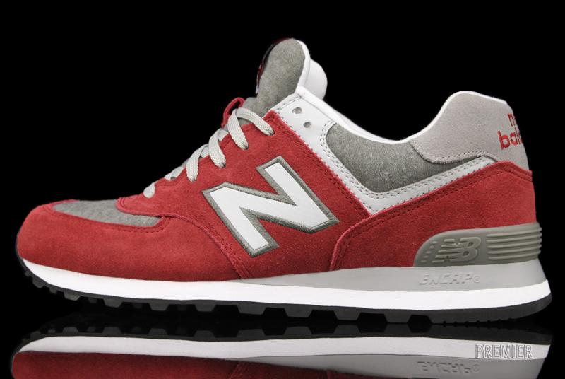 New Balance 574 'Red/Heather Grey-White'