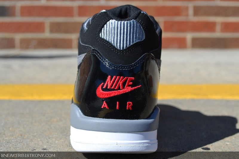 Nike Air Flight 89 'Black/Sport Red-Cool Grey-White'