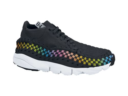 Nike Air Footscape Woven Chukka Premium QS Rainbow 'Black/Black-White' at NikeStore