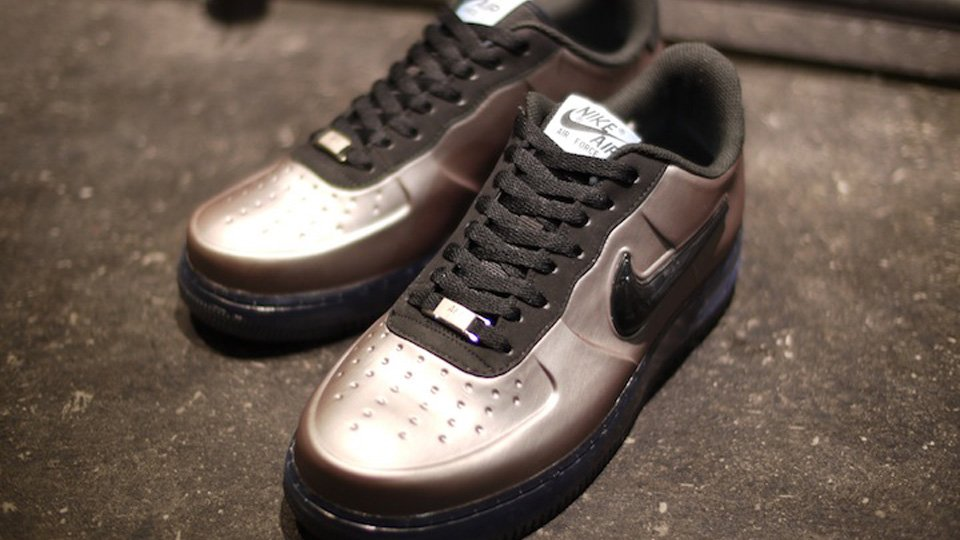 huge selection of f6122 a22d7 Nike Air Force 1 Foamposite Low 'Pewter' at mita | SneakerFiles