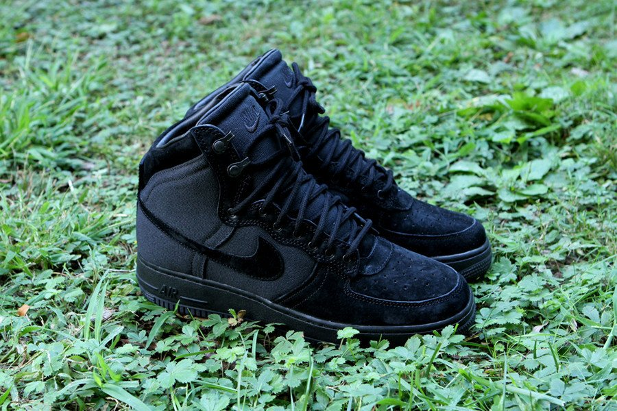 Nike Air Force 1 High Decon Military Boot 'Black' at Kith
