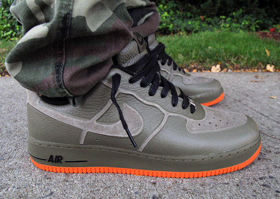Nike Air Force 1 Premium Skive Tech VT 'Medium Olive' at Rock City Kicks