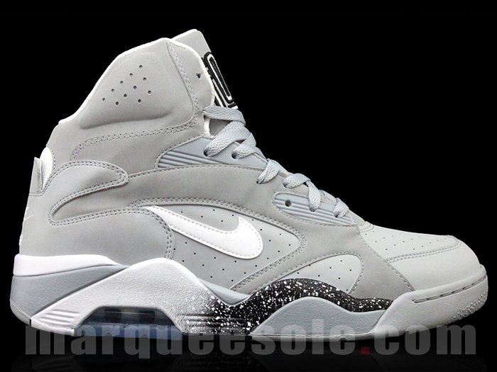 reputable site 8adf3 89bbd Nike Air Force 180 High  Grey Black-White  - New Images