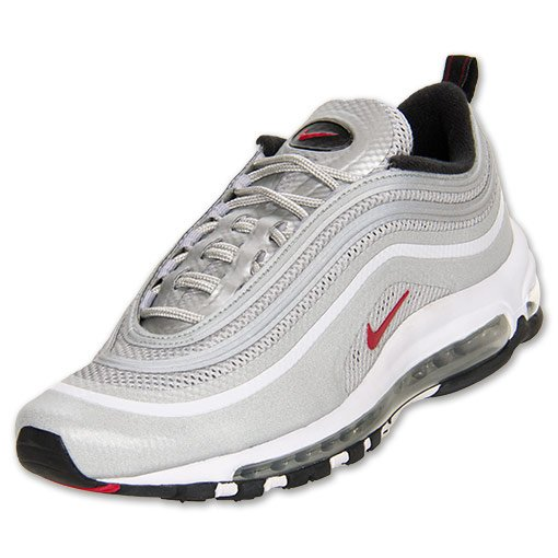 super popular f46c6 e2650 Nike Air Max 97 Hyperfuse Premium  Metallic Silver Varsity Red-Black  at Finish  Line