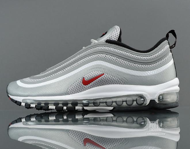Nike Air Max 97 Hyperfuse Premium 'Metallic Silver/Varsity Red-Black' at SFD