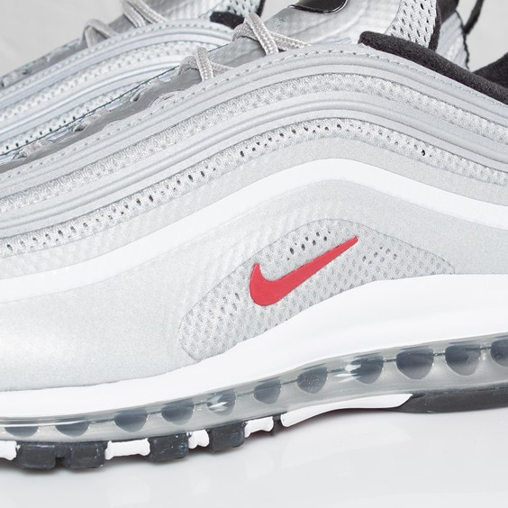 Nike Air Max 97 Hyperfuse Premium 'Metallic Silver/Varsity Red-Black' at SNS
