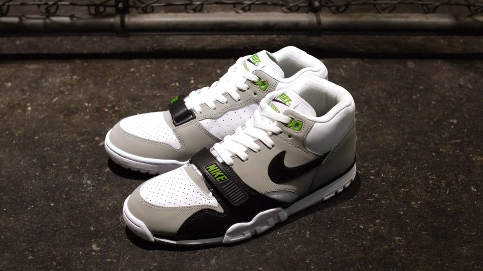 huge discount fe9d4 c147d The Nike Air Trainer 1 Mid Premium Chlorophyll Gets A Refill .