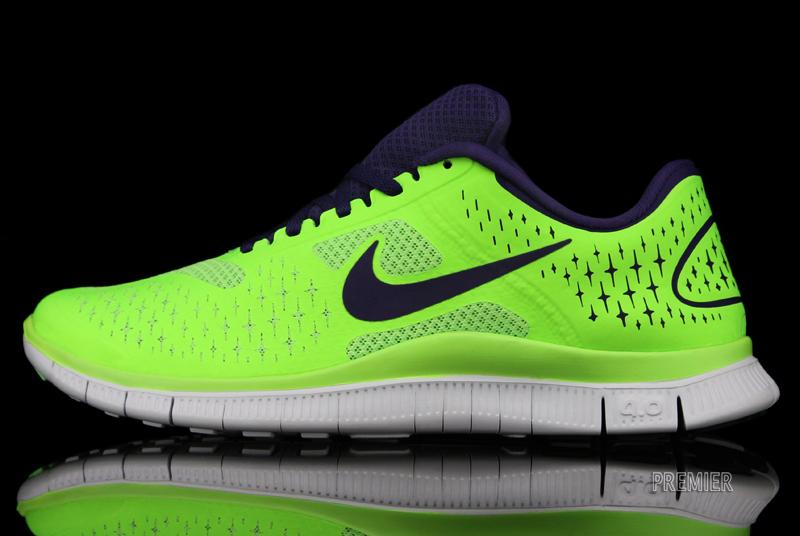 Nike Free 4.0 V2 'Electric Green/Night Blue-Pure Platinum'