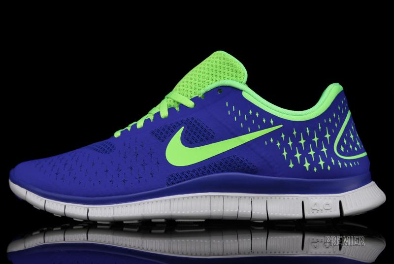 Nike Free 4.0 V2 'Game Royal/Electric Green-Pure Platinum'
