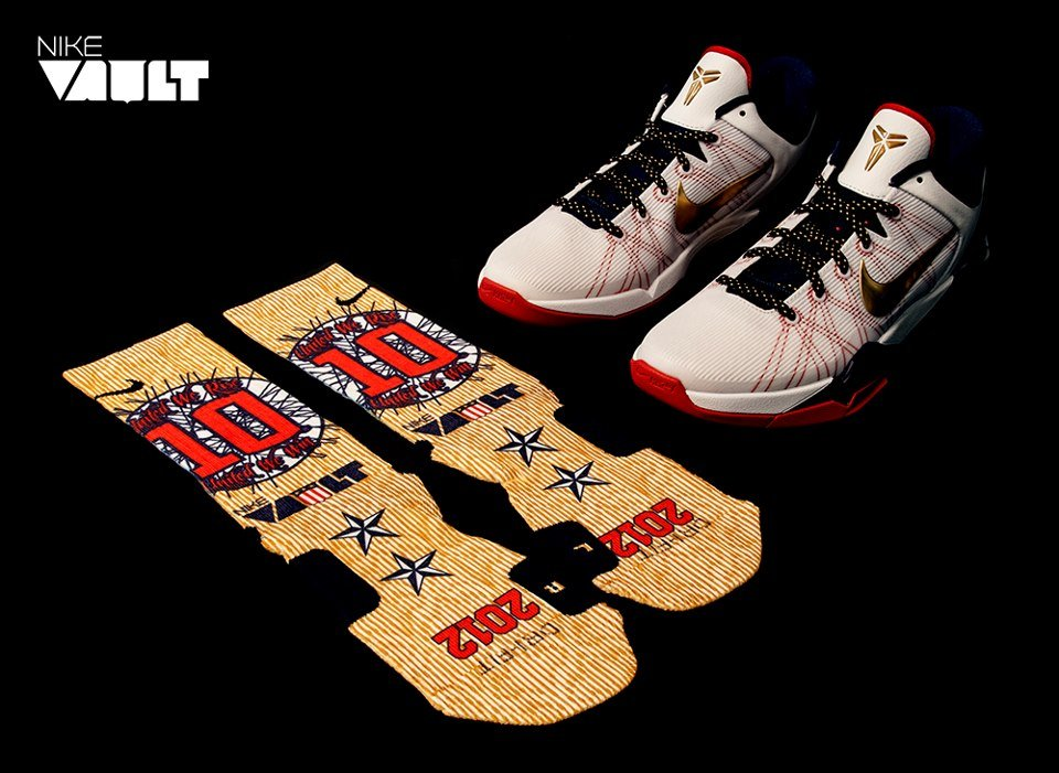 size 40 9a188 5de77 Nike Kobe VII (7)  Gold Medal  and Custom Elite Socks at Nike