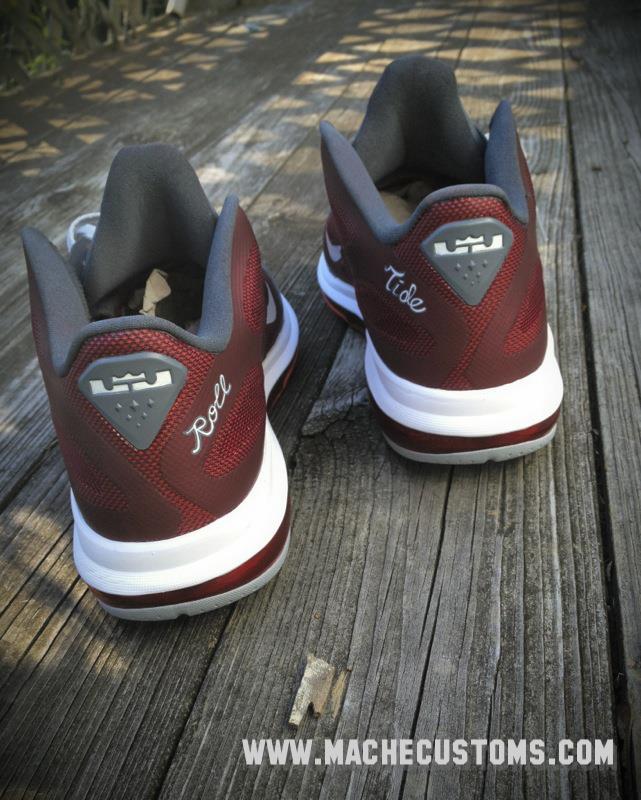 Nike LeBron 9 Low 'Roll Tide' by Mache Custom Kicks