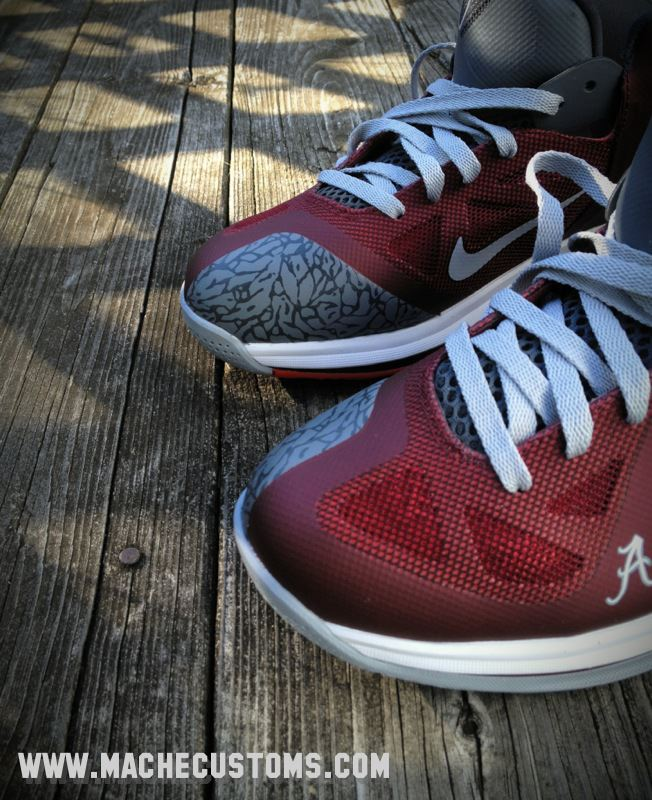 d2003d5c0645 Nike LeBron 9 Low  Roll Tide  by Mache Custom Kicks