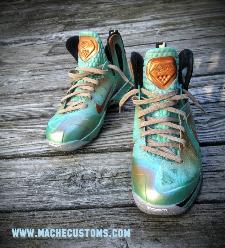 Nike LeBron 9 P.S. Elite '... And Justice for All' (Statue of Liberty) by Mache Custom Kicks