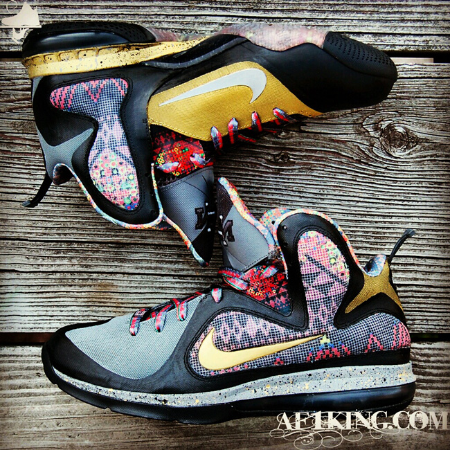 more photos f864a 9d332 See more in the Customs category Nike LeBron 9 Custom Nike LeBron 9 Seek  the Light with a Heart of Gold by GourmetKickz ...