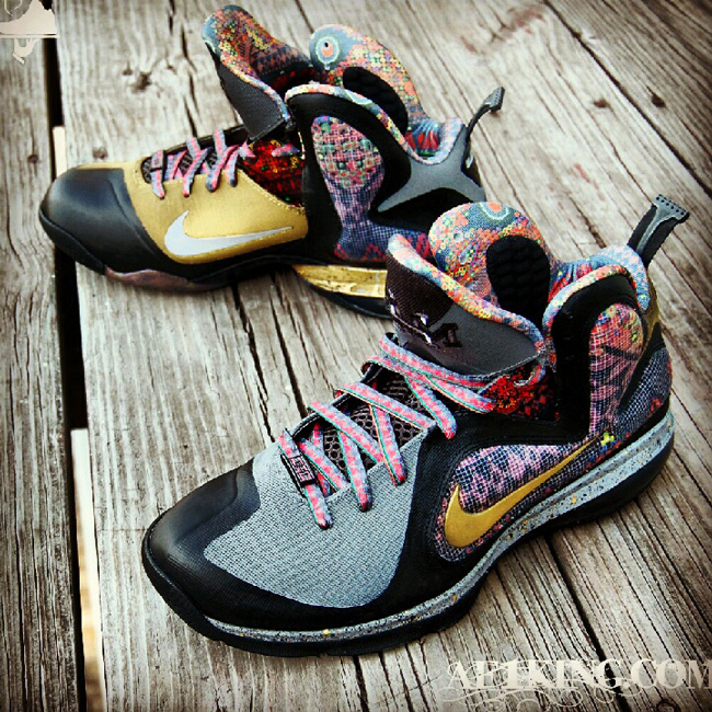 Nike LeBron 9 'Seek the Light with a Heart of Gold' by GourmetKickz