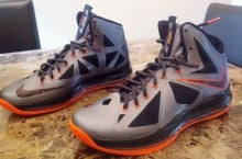 Nike LeBron X 'Silver/Black-Orange' – New Images