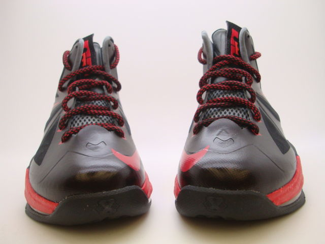 Nike LeBron X (10) GS 'Black/Chrome-University Red-Cool Grey' - New Images
