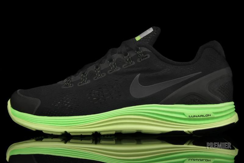 7e65283878f6 Nike LunarGlide+ 4 Shield  Black Electric Green-Liquid Lime ...