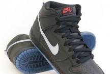 Nike SB Dunk High Premium 'Black/Silver-Varsity Red'