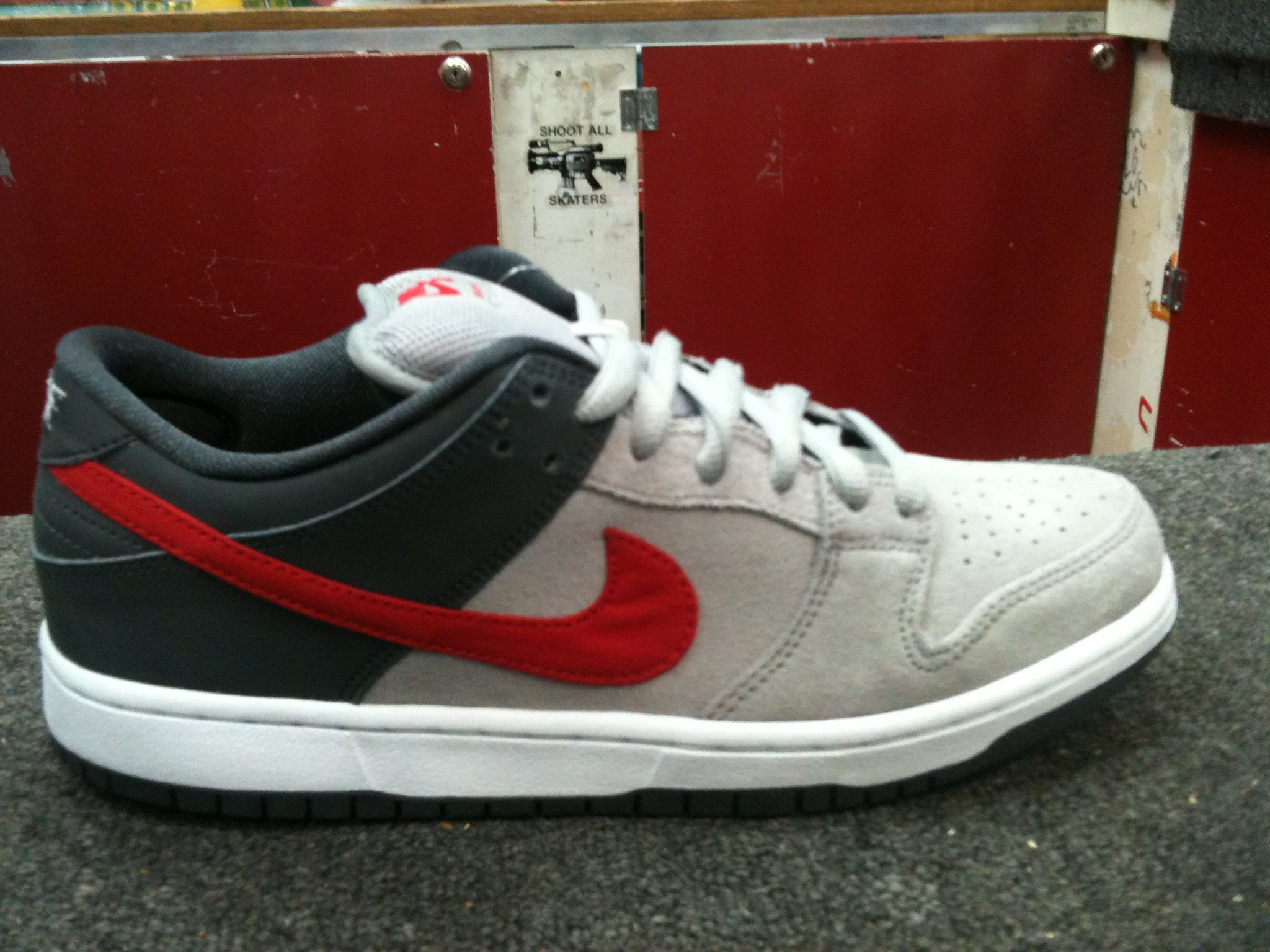 Nike SB Dunk Low 'Grey/Black-Red' - Summer 2013