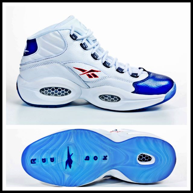Reebok Question Mid 'White/Pearlized Navy/Red' - Release Date + Info