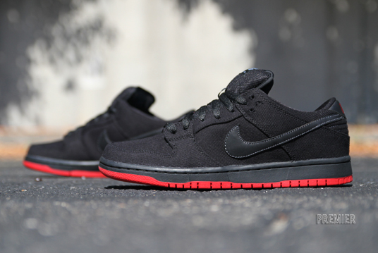 Release Reminder: Levi's x Nike SB Dunk Low 'Black' at Premier