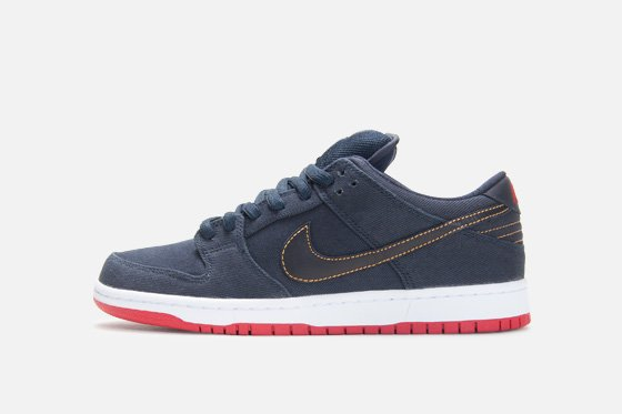 Release Reminder: Levi's x Nike SB Dunk Low 'Dark Obsidian' at Atlas