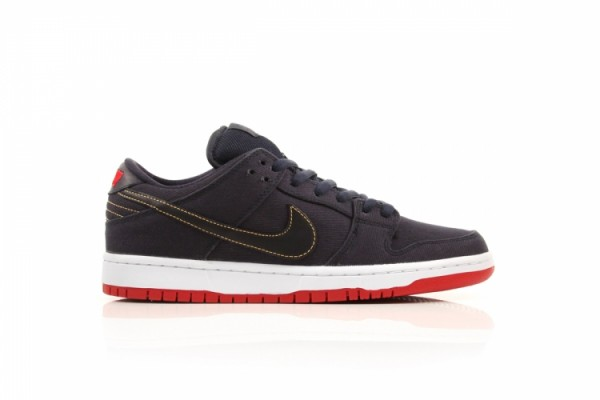 Release Reminder: Levi's x Nike SB Dunk Low 'Dark Obsidian' at DQM