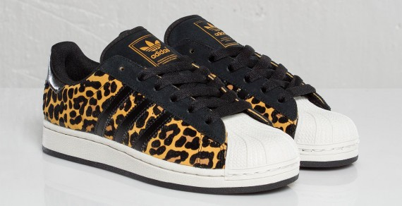 leopard adidas superstar girls
