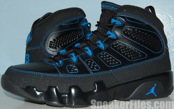 promo code a5a21 a3fed Air Jordan 9 (IX) Photo Blue Black Bottom Video Review ...