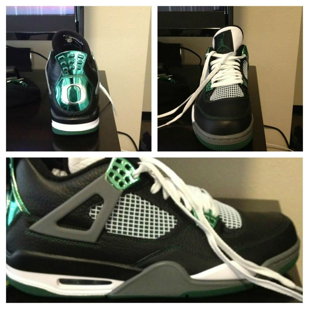 Air Jordan IV (4) Oregon Ducks 'Away'
