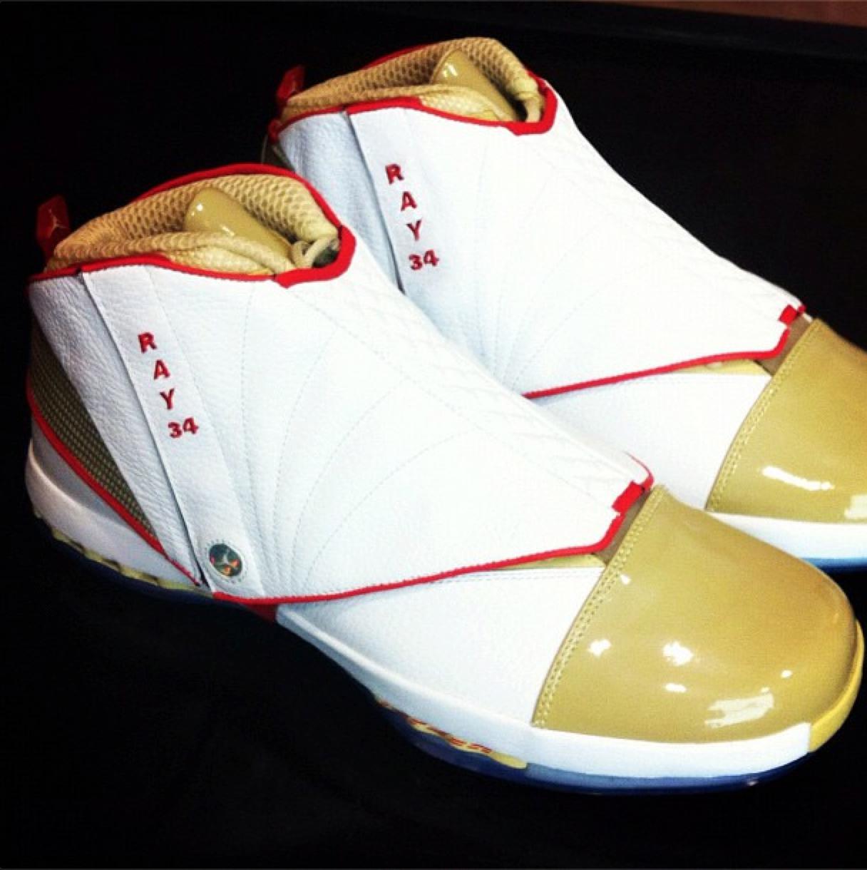 new product 209c6 f9dba Air Jordan XVI (16) Ray Allen Miami Heat Debut PE