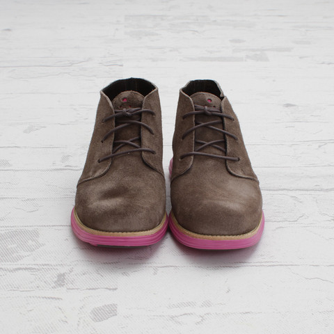Cole Haan LunarGrand Chukka 'Grey Suede/Pink'